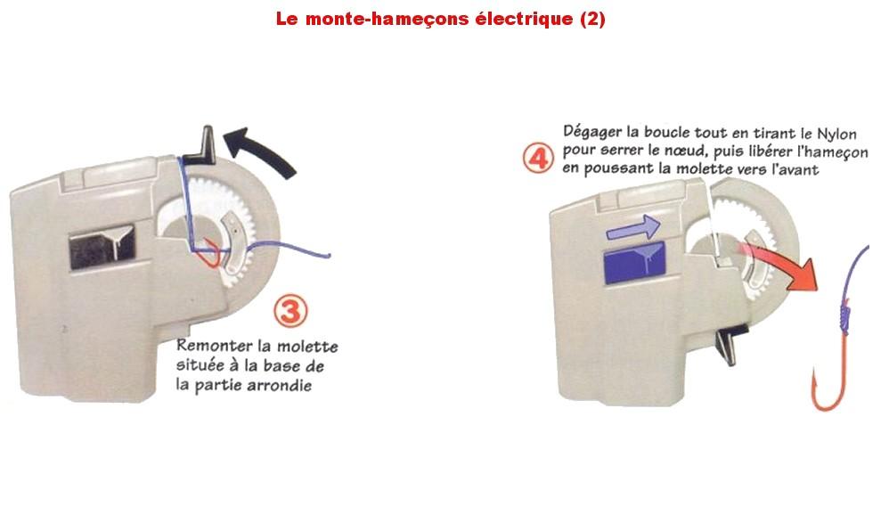 Monte hameçon électrique
